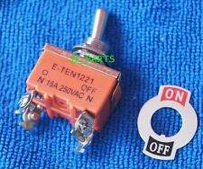 1pcs E-TEN1221 4-Pin Toggle Flick Switch DPST ON-OFF 15A 250VAC