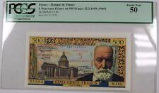 1959 (1960) Banque de France 5 Nouveaux Francs on 500 Francs 12.2.1959 PCGS AU50