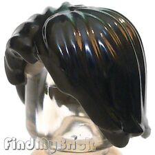 G141B Lego Hair Kylo Ren / Boba Fett Mid-Length Tousled - Black 75023 75139 NEW