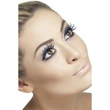 Womens False Eyelashes Spiderweb with Glitter & glue 1 set Halloween Fancy Dress