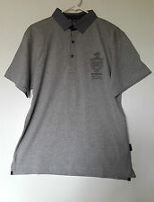 GEORGES RECH T-SHIRT POLO SLIM FIT MANCHES COURTES TAILLE XL GRIS 100% COTON