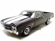 1970 CHEVROLET EL CAMINO SS BLACK 1/18 DIECAST MODEL CAR BY WELLY 12543
