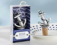50 Nautical Anchor Wedding Wine Bottle Stopper Reception Favor Party Cork Drink