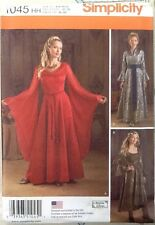 SIMPLICITY PATTERN 1045 Size HH Game Of Thrones/ Lord Of The Rings Style Costume