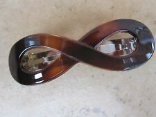 Figure 8 Faux Shell French Clip Hair Barrette New Made in France 80mm Clip