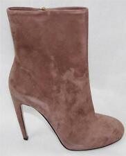 AUTH $850 Gucci Women Suede High Heel Boots 37.5