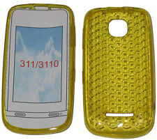 For Nokia Asha 311 / 3110 Pattern Soft Gel Case Cover Protector Pouch Yellow UK