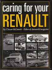 Caring for your Renault Technical book Pub '73 engine fuel electrics brakes body