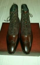 MEZLAN Men's Tri-Tone/Brown Boots with Laces & Zipper Side Closure  Size 10.5 M