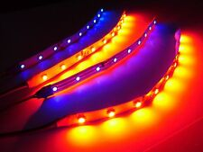 RC Blue and Red Underbody glow LED Strip Lights Superbright FPV Quadcopter 6""