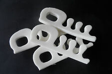 toe separators - packet of 4 white foam toe spacers for pedicures - FREE POSTAGE