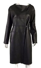 KAUFMANFRANCO Black Shearling & Lambskin Leather Reversible Coat M