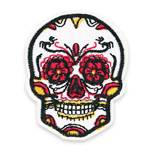 Sugar Skull Halloween Rockabilly Embroidered Iron/ Sew-On Patch Badge Craft