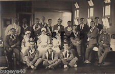 WW1 Group Wounded soldiers Nurse & VAD Voluntary Aid Detachment nurse in ward