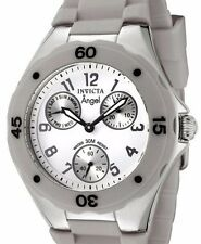Brand New Womens Invicta 0705 Angel Collection Multi Function Grey Rubber Watch
