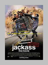"JACKASS CAST X3 PP SIGNED MINI POSTER 12""X8"" KNOXVILLE"