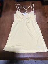 ABERCROMBIE & FITCH WOMENS CAMI TANK TOP YELLOW SHIRT BLOUSE NEW XS
