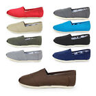 New Women Men's Glitter Slip-on Casual Flats Solid Canvas Leisure Loafer Shoes b