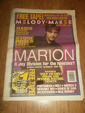 MELODY MAKER MAGAZINE / NEWSPAPER APRIL 29 1995 OASIS STONE ROSES MARION HOLE