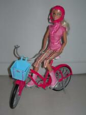 Barbie Doll Glam Bike with Doll, Helmet and Basket