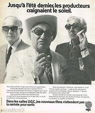 PUBLICITE ADVERTISING 055  1973  CINEMAS UGC  les producteurs