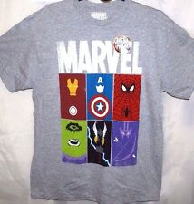 Mad Engine Marvel Men's T-Shirt Spider Man Wolverine Comic's Super Heroes Size L