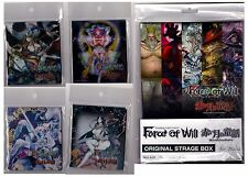 FOW Force of Will Official Storage Box + 4 Deck Box, New!