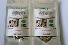 Organic Ginger Root 100% - 500mg x 120 Veg Capsules - Natural Superfood - Bio