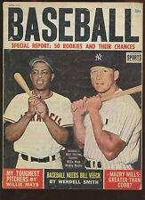 April 1963 Baseball Magazine With Mickey Mantle / Willie Mays Cover EX