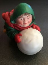 Department 56 Merry Makers Sebastian the Snowball Maker NIB Friar Monk Imp