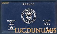Coffret VIDE - Fleurs de Coins FDC 1981 -  Monnaie de Paris