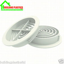 10 x 70mm WHITE SOFFIT ROOF AIR VENT- UPVC / Soffit Board / Eaves / Disc/Circle