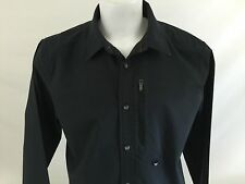 Oakley Long Sleeve Fishing Shirt Black Therm Guage Vented Large