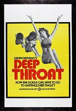 DEEP THROAT * CineMasterpieces ADULT X RATED PORN ORIGINAL MOVIE POSTER 1972