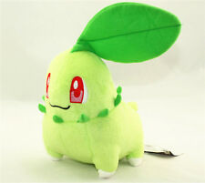 "7"" Cute Pokemon Chikorita Kids Toy Soft Plush Stuffed Doll Toy Birthday Gift New"