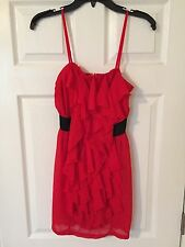 Forever 21 Red Ruffle Dress - Size Small, Pre-owned
