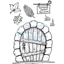 Sweet Dixie Clear Stamps Gnome Door Lindsey Mason fairy house leaf home craft