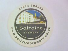 SALTAIRE  BREWERY - 01274 594959  Beermat / Coaster 2 sided -