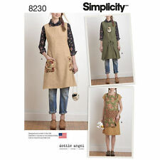 Simplicity 8230 Paper Sewing Pattern Misses 6-24 Dottie Angel Apron Dress Tabard