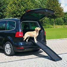 Folding Dog Ramp Pet Car Van Lightweight Bi Fold Gear Travel Transport Plastic S