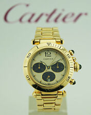 WATCH CARTIER PASHA DE CARTIER CHRONOGRAPH FULL GOLD 30009