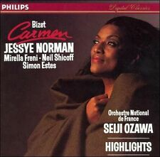Bizet: Carmen [Highlights] (CD, Philips) SEIJI OZAWA JESSYE NORMAN MIRELLA FRENI