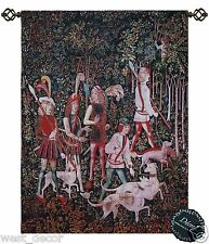 Beautiful Hunt of Unicorn Medieval Fine Tapestry Jacquard Woven Wall Hanging x c