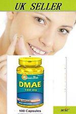 DMAE 100 mg x100 capsules skin care memrory help