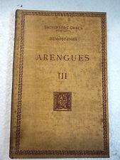 Escriptors Grecs,Arengues III Demostenes,F.Bernat Metge 1951