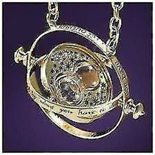 AMAZING Gold Plated Harry Potter Time Turner Necklace with Luxury Velvet Bag