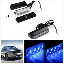 1 X 4LED Blue 333mA Car Front Rear Lower Upper Bumper Body Side Strobe Light Bar