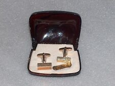 VINTAGE IMITATION JEWELLERY PAIR OF GOLD-PLATED CUFFLINKS, MADE IN WEST GERMANY