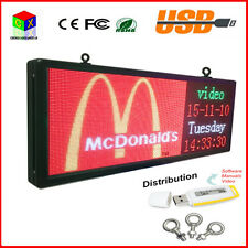 New Outdoor full color led sign display 15 by 40 Programmable business Board