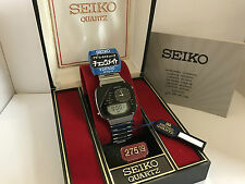 Seiko H239-5030 Dual Time Chronograph Ana-Digi Quartz LCD Watch M